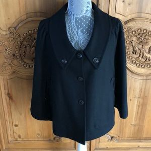 Tulle brand lined black wool Cape Small NEW